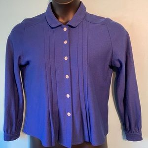Women's vintage blue button up blouse